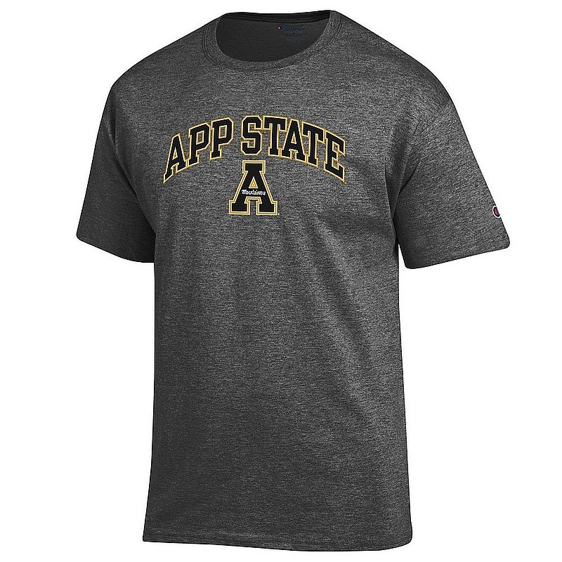 Appalachian State Mountaineers TShirt Varsity Charcoal Arch Over APC03002467*