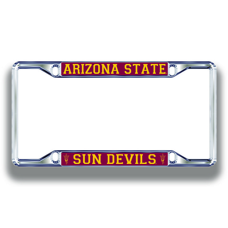 Arizona State Sun Devils License Plate Frame Silver 26747
