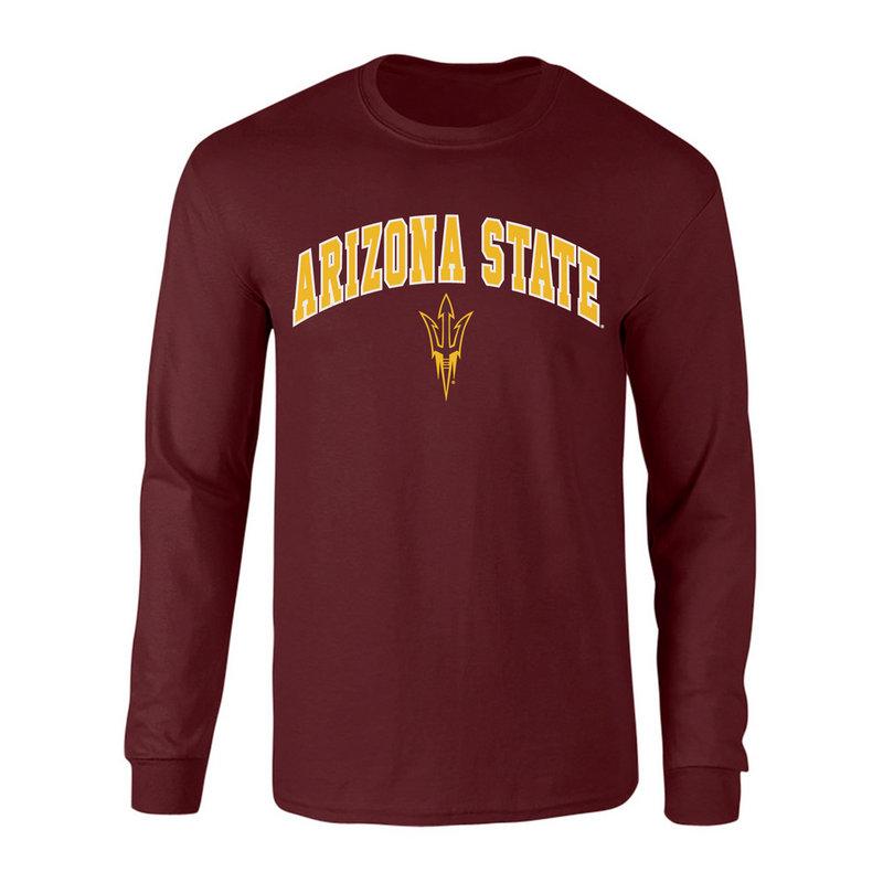 Arizona State Sun Devils Long Sleeve Tshirt Arch Maroon P0006427