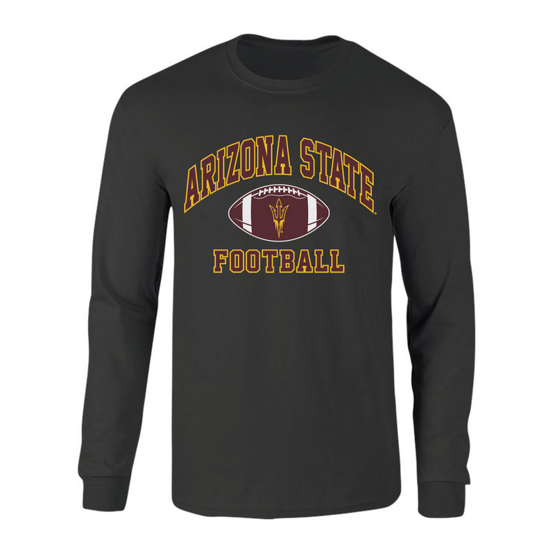 Arizona State Sun Devils Long Sleeve Tshirt Heather Gray