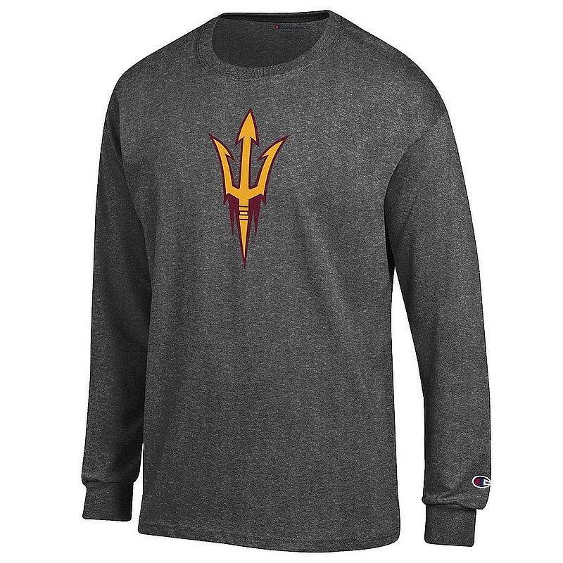 Arizona State Sun Devils Long Sleeve TShirt Icon Charcoal APC03003993