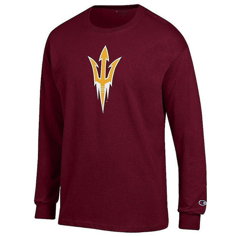 Arizona State Sun Devils Long Sleeve TShirt Icon Maroon APC03003991