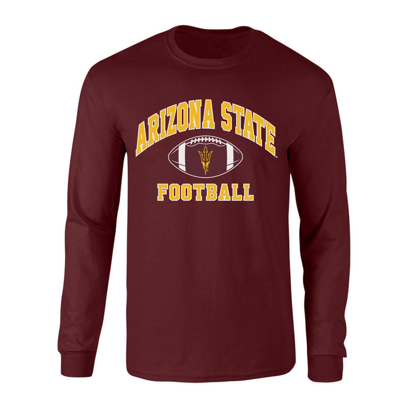 Arizona State Sun Devils Long Sleeve Tshirt Maroon