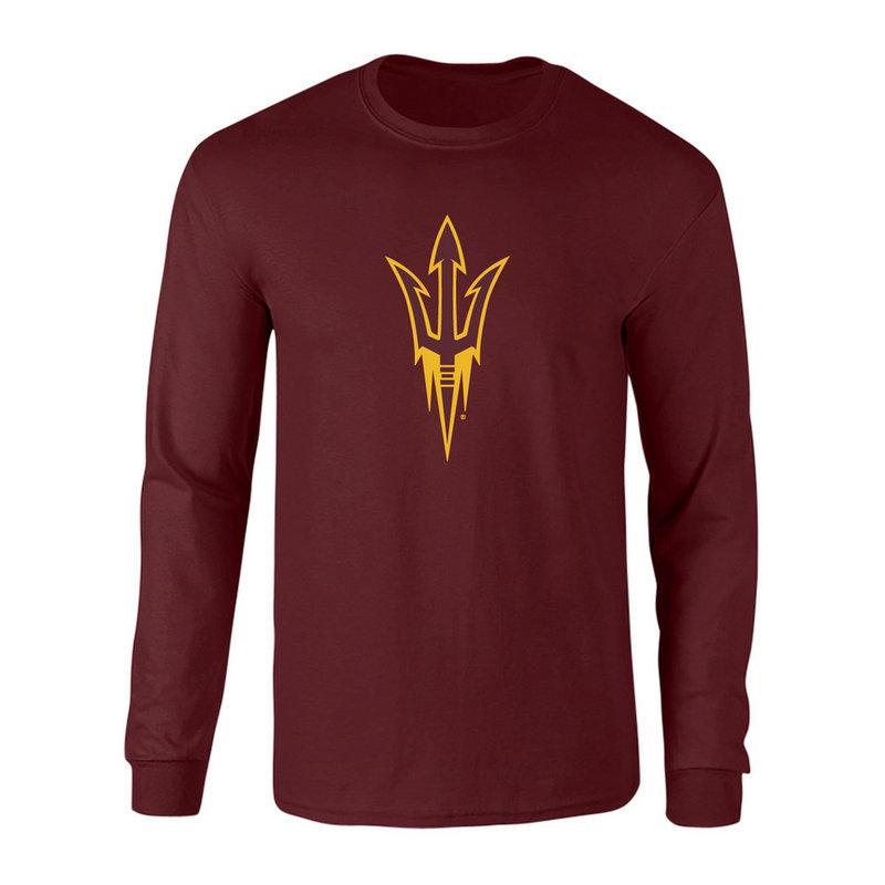 Arizona State Sun Devils Long Sleeve Tshirt Power Maroon P0006428