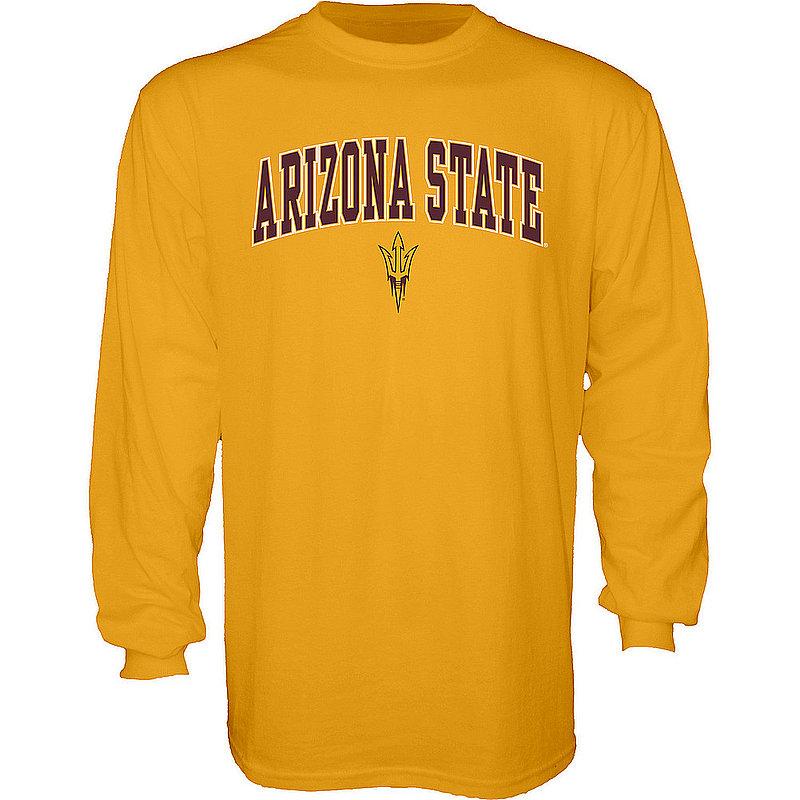 Arizona State Sun Devils Long Sleeve TShirt Varsity Gold APC03007063