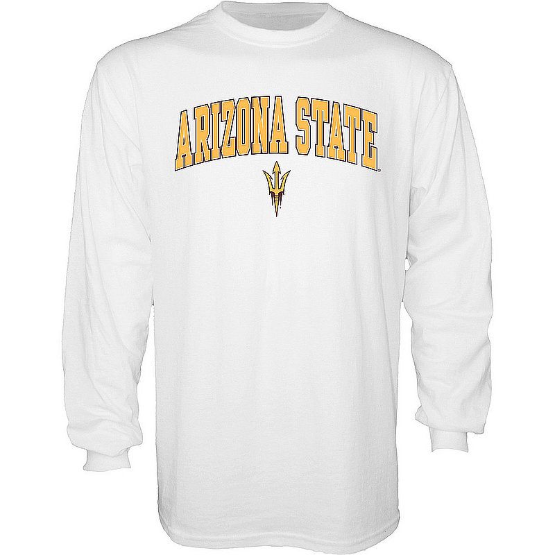 Arizona State Sun Devils Long Sleeve TShirt Varsity White APC03006310