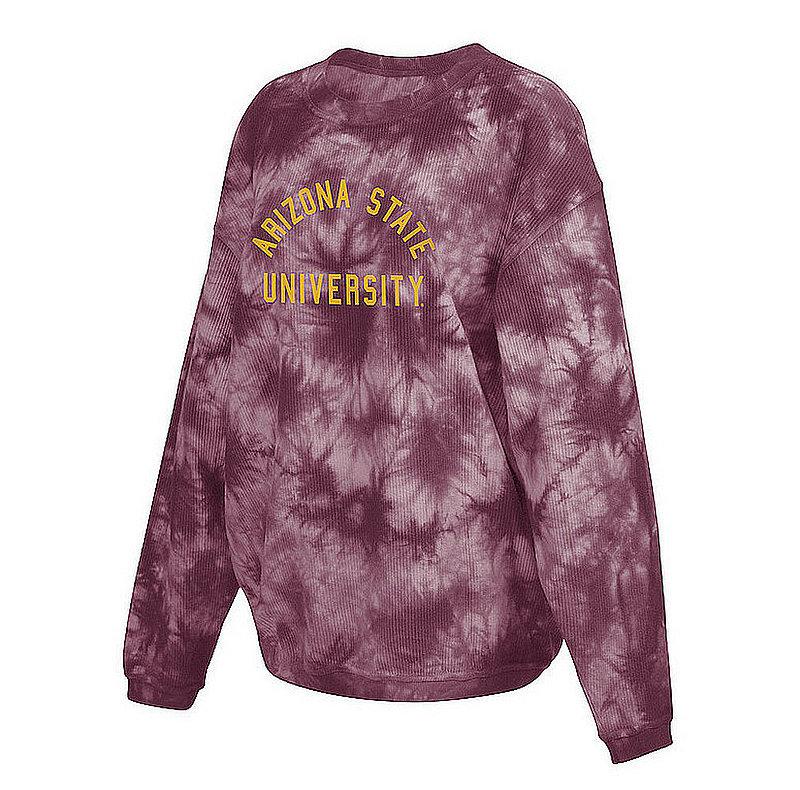 Arizona State Sun Devils Women's Tie-Dye Corded Crewneck Sweatshirt 443-51-AS519