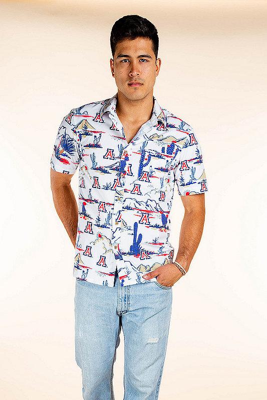 Arizona Wildcats Hawaiian Shirt White MPL-SRWQ119-LS1555