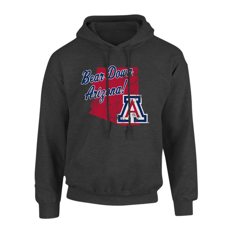 Arizona Wildcats Hooded Sweatshirt Vintage Heather Gray P0006408