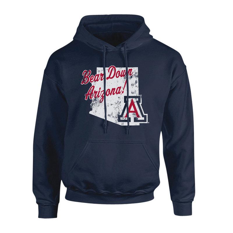 Arizona Wildcats Hooded Sweatshirt Vintage Navy P0006408