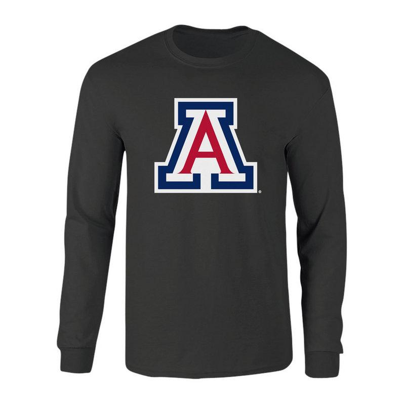 Arizona Wildcats Long Sleeve Tshirt Icon Heather Gray P0006407