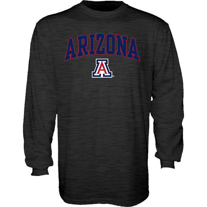 Arizona Wildcats Long Sleeve TShirt Varsity Charcoal Arch Over APC02969704*