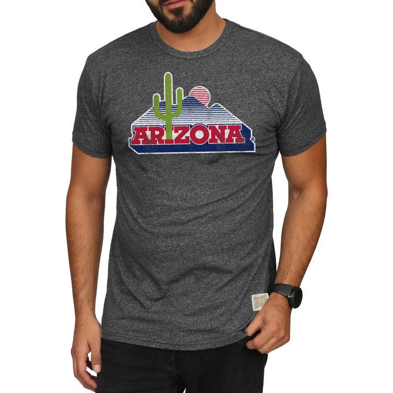 Arizona Wildcats Retro TShirt Charcoal CARZ128A_MTCH