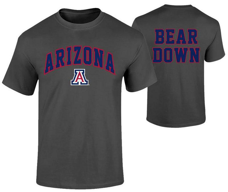 Arizona Wildcats TShirt Bear Heather Gray 60006406/P0006409