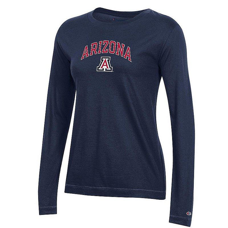 Arizona Wildcats Womens Long Sleeve TShirt Navy Arch APC03442606