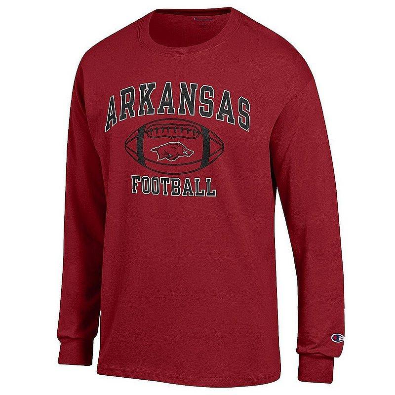 Arkansas Razorbacks Football Long Sleeve Tshirt Cardinal APC03031121