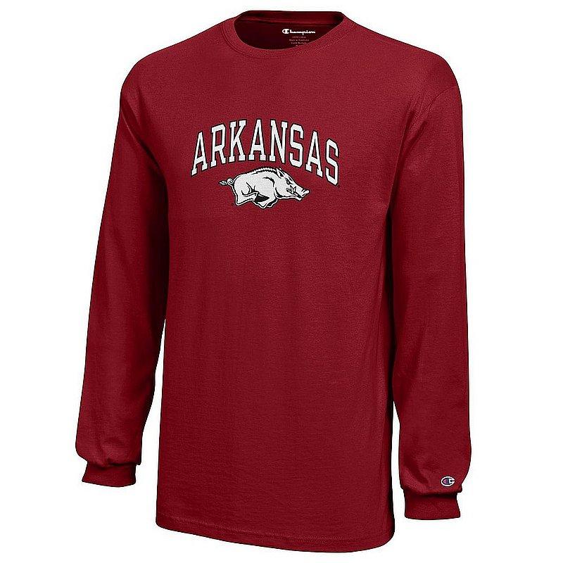 Arkansas Razorbacks Kids Long Sleeve Tshirt Arch Cardinal APC03008222