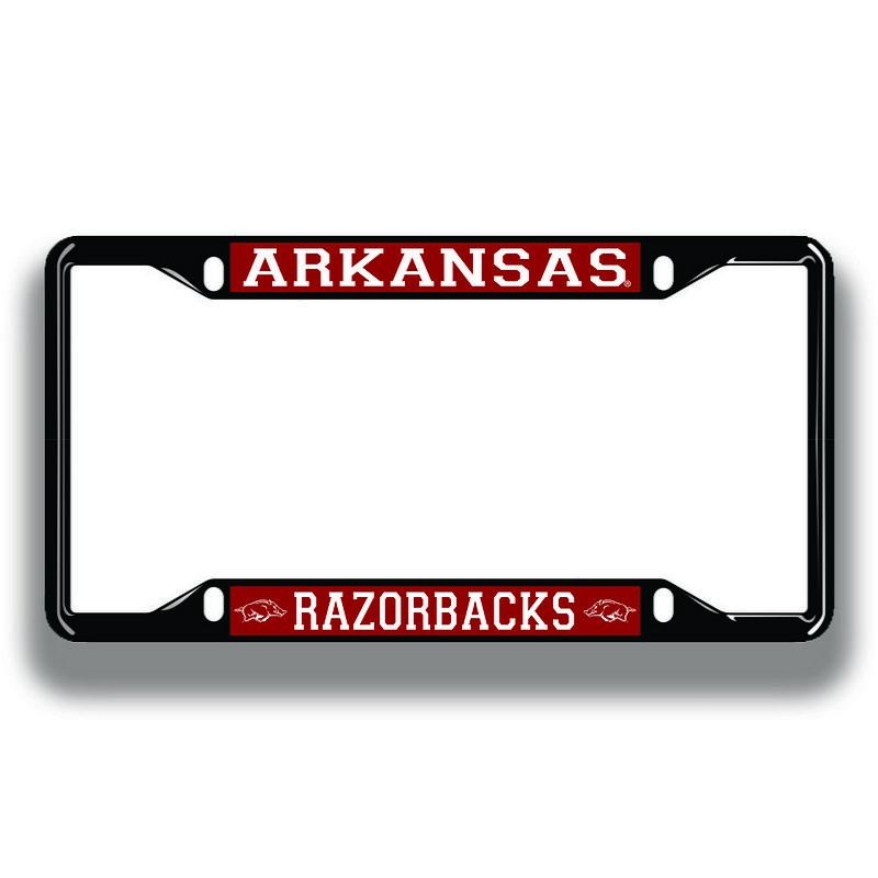 Arkansas Razorbacks License Plate Frame Black 11277