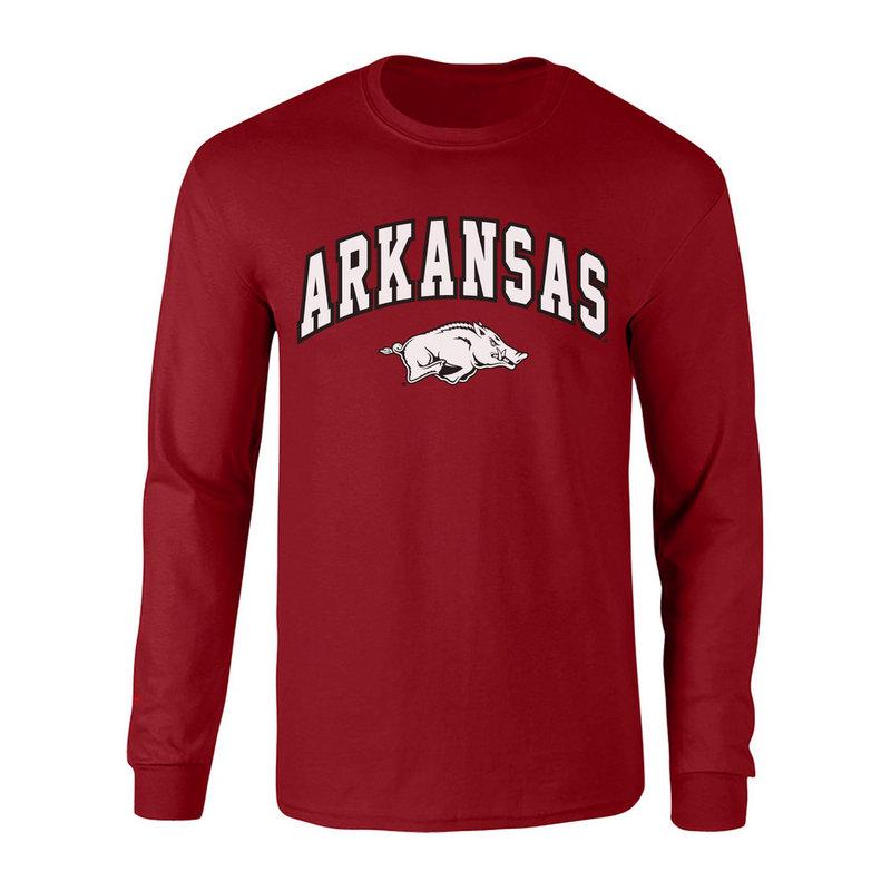 Arkansas Razorbacks Long Sleeve Tshirt Arch Cardinal P0006424