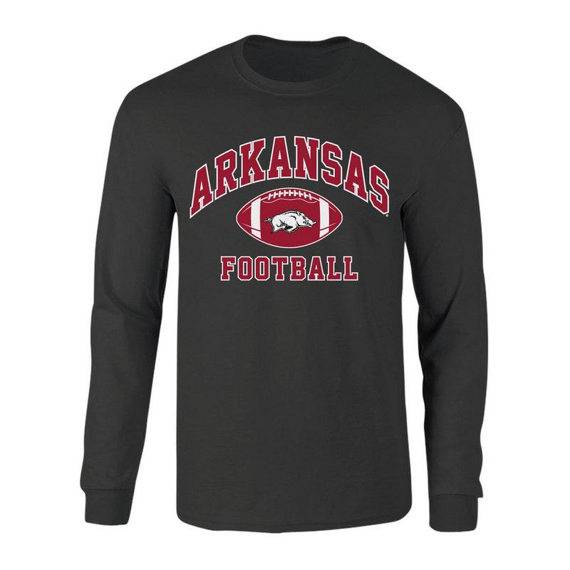 Arkansas Razorbacks Long Sleeve Tshirt Heather Gray P0006421