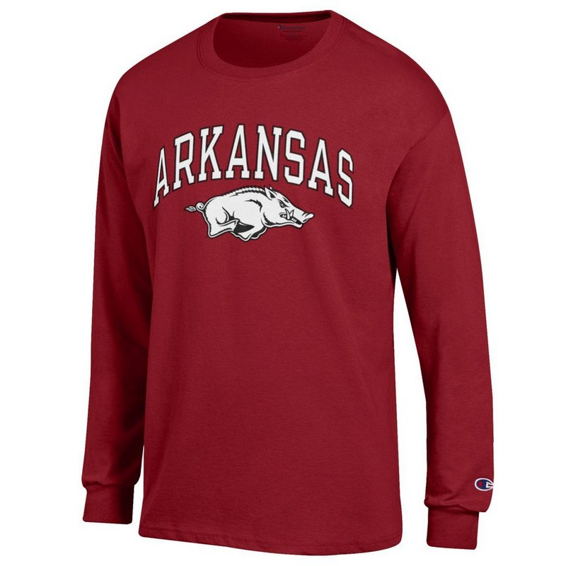 Arkansas Razorbacks Long Sleeve Tshirt Varsity Cardinal APC02888572