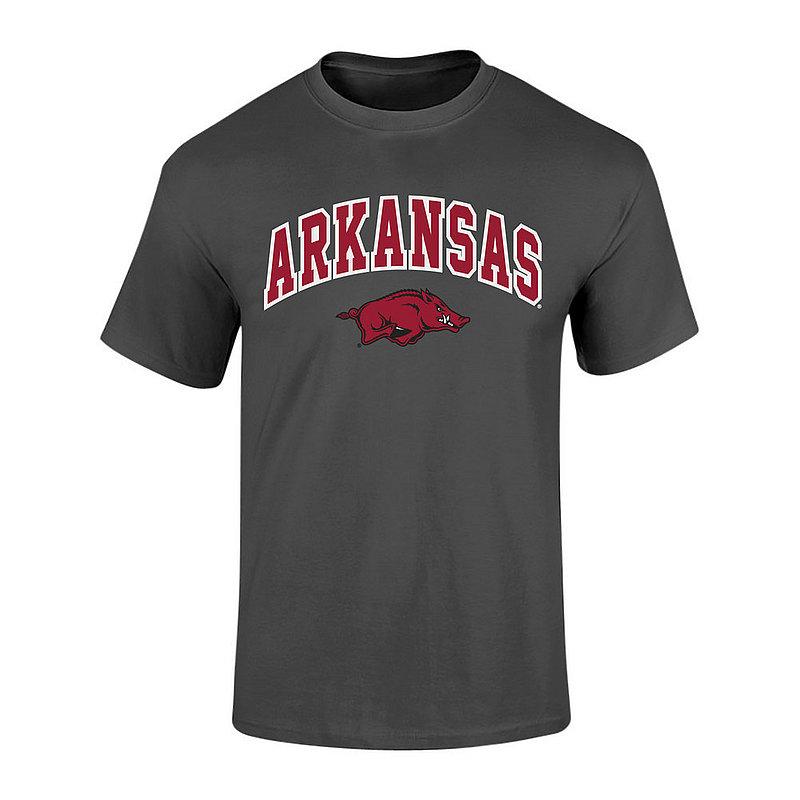Arkansas Razorbacks Tshirt Arch Over Plus Size 2X 3X 4X 5X Charcoal