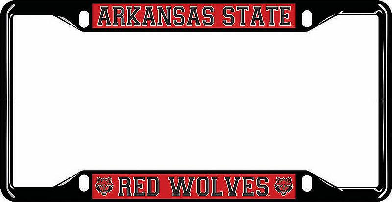Arkansas State Red Wolves License Plate Frame Black 02253