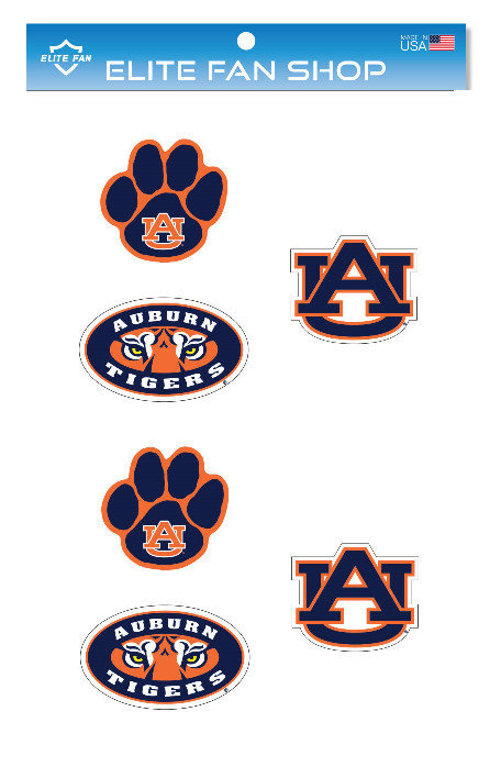 "Auburn Tigers 3"" Vinyl Decal 6-Pack"