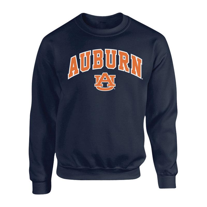 Auburn Tigers Crewneck Sweatshirt Arch Navy P00061999