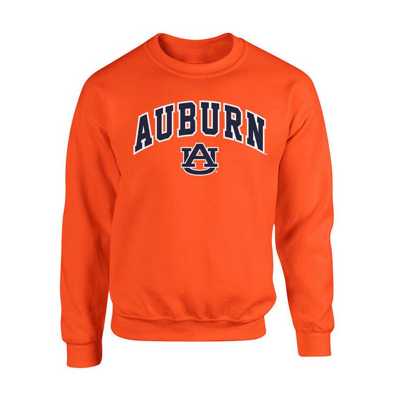Auburn Tigers Crewneck Sweatshirt Arch Orange P0006199