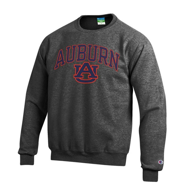 Auburn Tigers Crewneck Sweatshirt Varsity Charcoal APC02879947