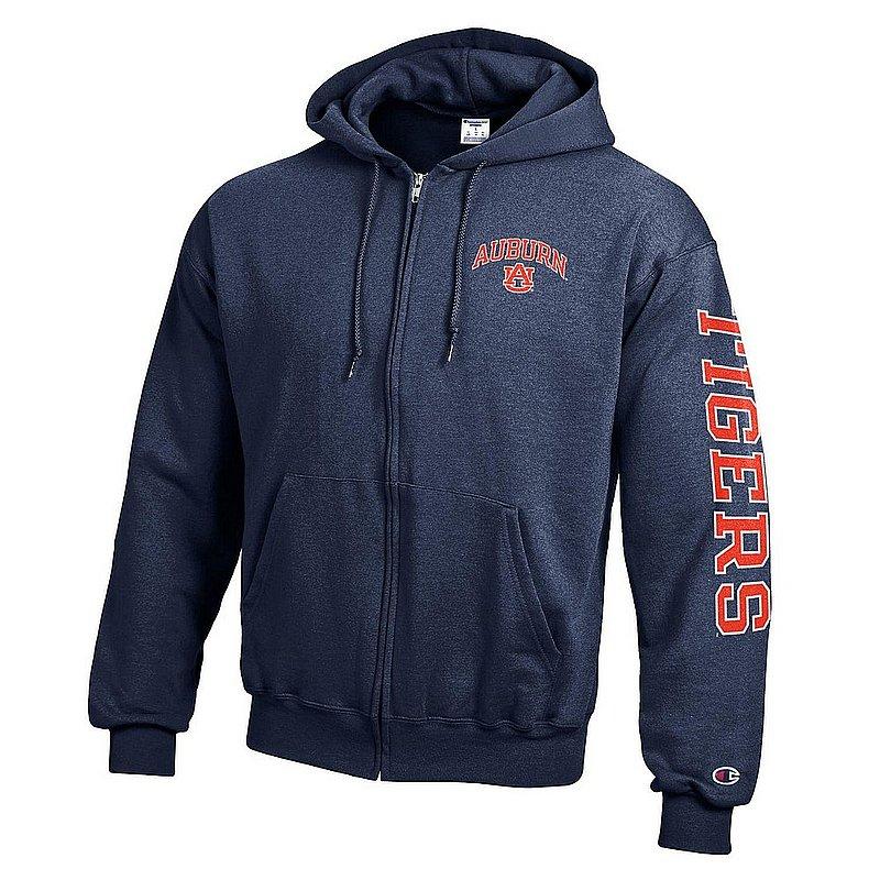 Auburn Tigers Full Zip Hooded Sweatshirt Letterman Navy APC02973416/APC02973419