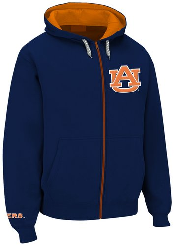 Auburn Tigers Full Zipper Up Hooded Sweatshirt Navy AUB29452