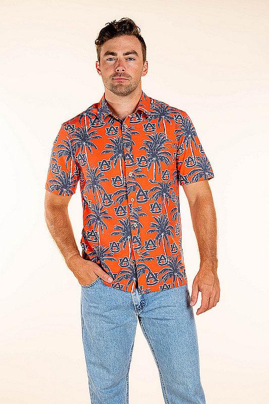 Auburn Tigers Hawaiian Shirt Palm Trees MPL-SRWQ319-LS1692