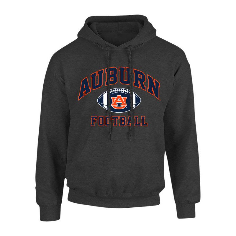 Auburn Tigers Hooded Sweatshirt Football Heather Gray P0006198