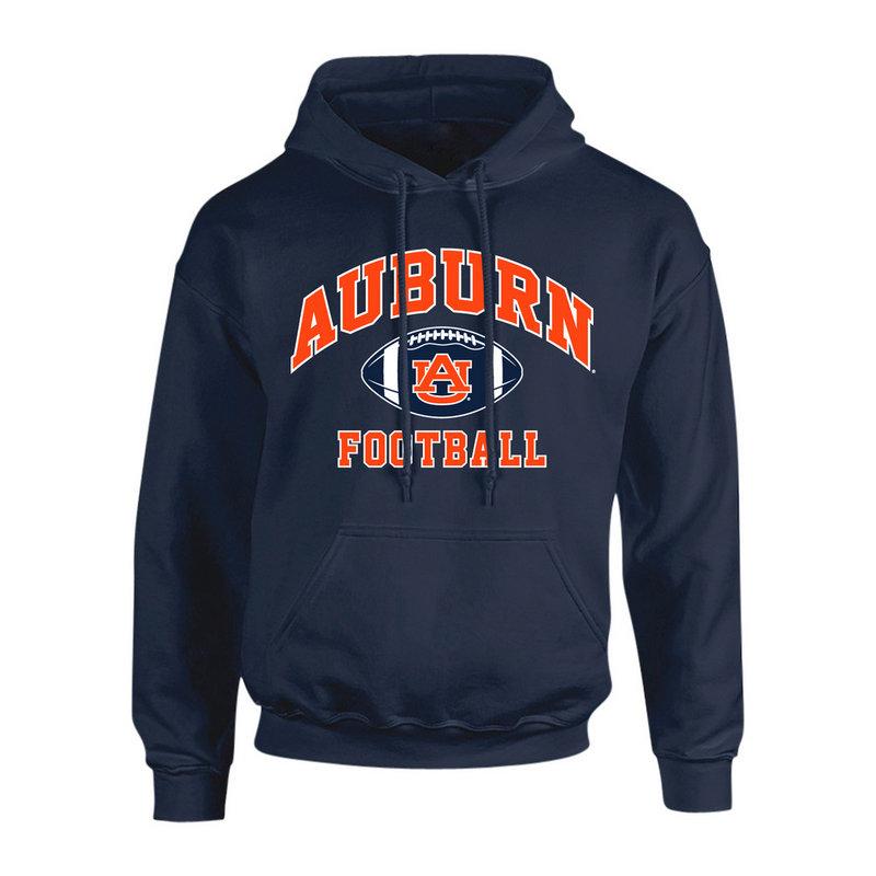 Auburn Tigers Hooded Sweatshirt Football Navy P0006198