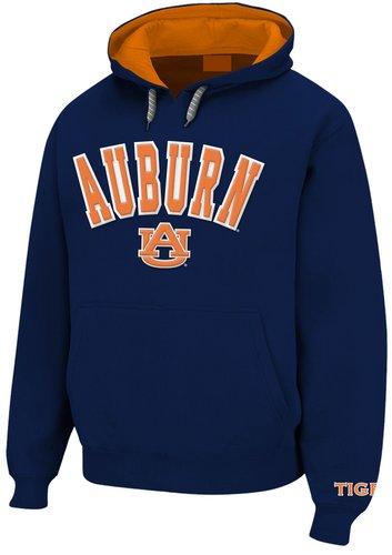 Auburn Tigers Hooded Sweatshirt Tackle Twill Navy AUB28152