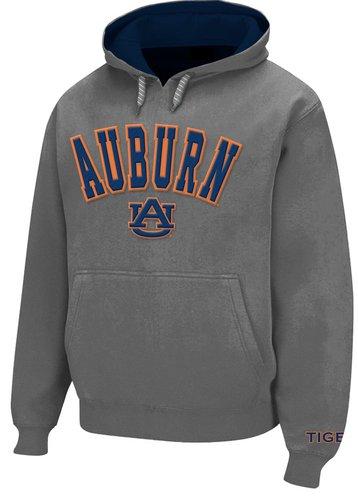 Auburn Tigers Hooded Sweatshirt Twill Gray
