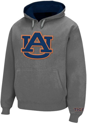 Auburn Tigers Hooded Sweatshirt Twill Gray Icon AUB28417