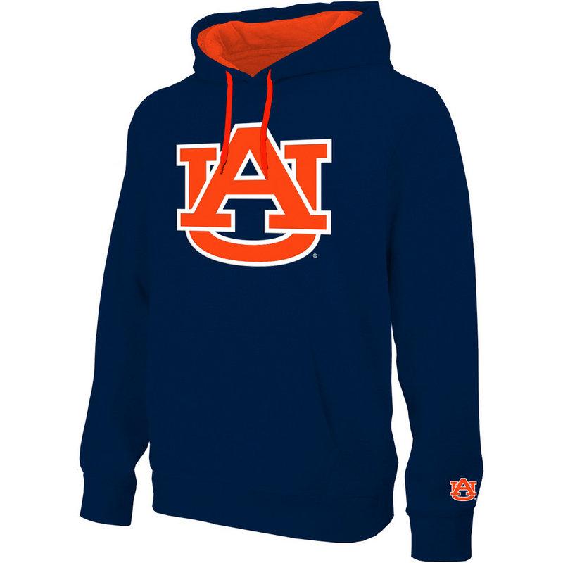 Auburn Tigers Hooded Sweatshirt Twill Navy Icon AUB28417