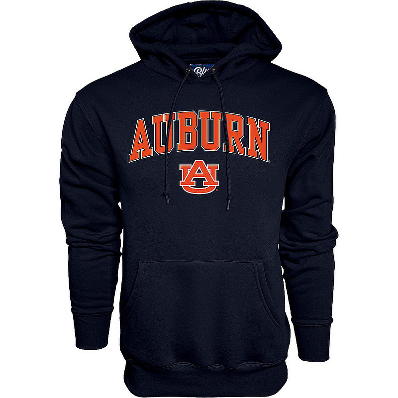 Auburn Tigers Hooded Sweatshirt Varsity Navy Arch Over BCR2M