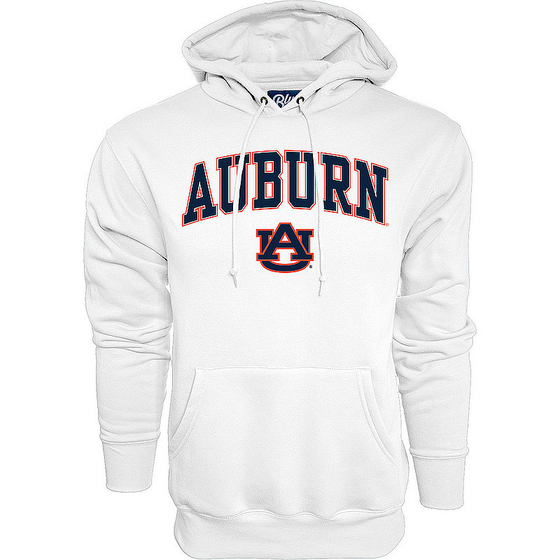 Auburn Tigers Hooded Sweatshirt Varsity White Arch Over BCR2M