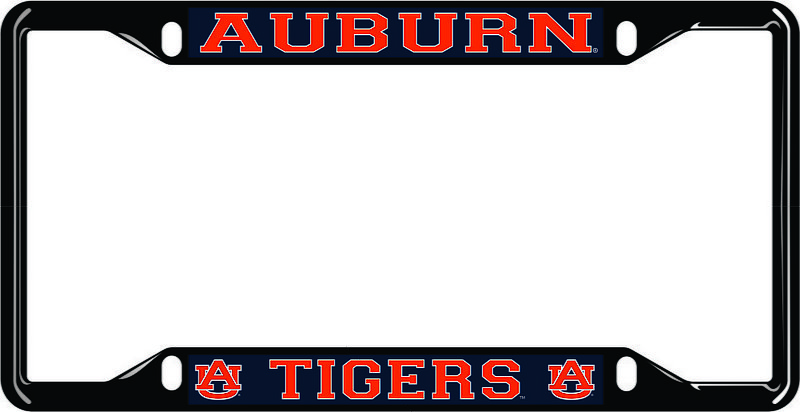 Auburn Tigers License Plate Frame Black 12424