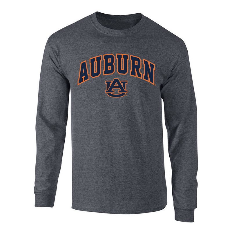 Auburn Tigers Long Sleeve Tshirt Arch Charcoal P00061999