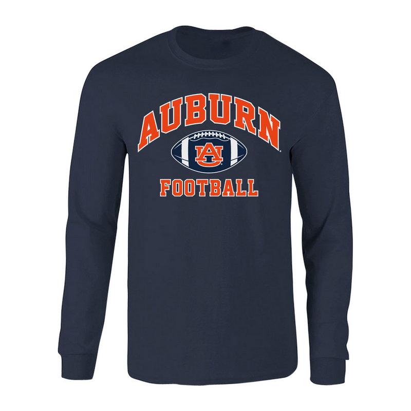 Auburn Tigers Long Sleeve Tshirt Football Navy P0006198