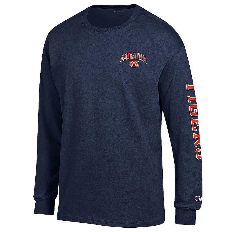 Auburn Tigers Long Sleeve TShirt Letterman Navy APC02973416/APC02973419