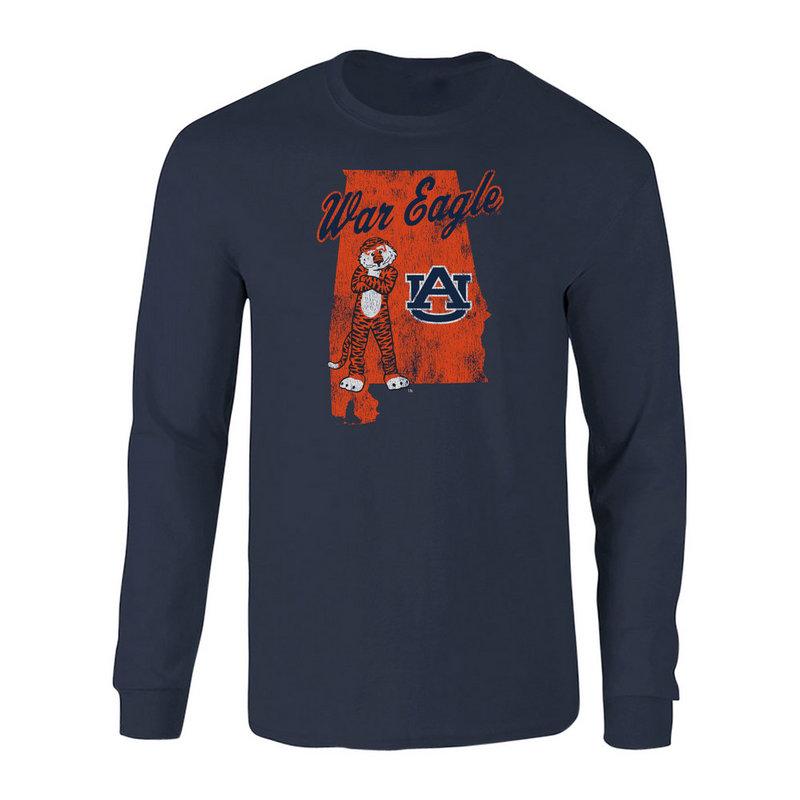 Auburn Tigers Long Sleeve Tshirt Navy P0006201