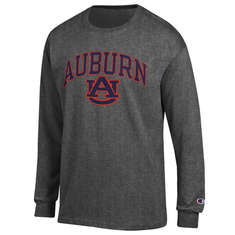 Auburn Tigers Long Sleeve Tshirt Varsity Charcoal APC02879947