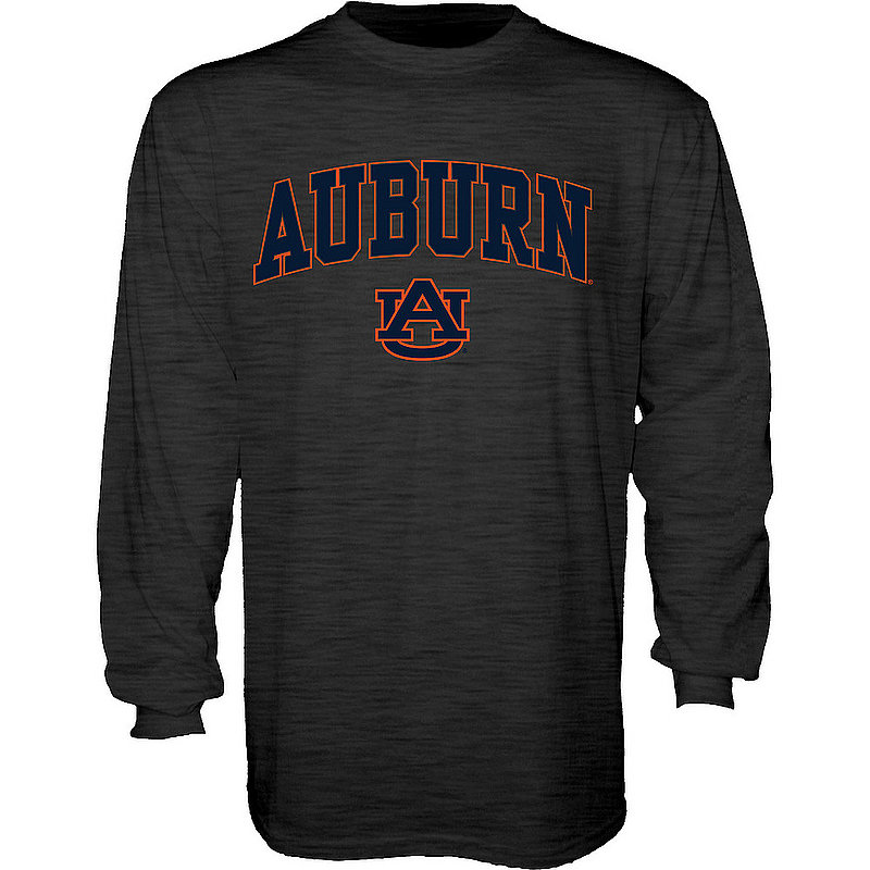 Auburn Tigers Long Sleeve Tshirt Varsity Charcoal Arch Over BCR2M