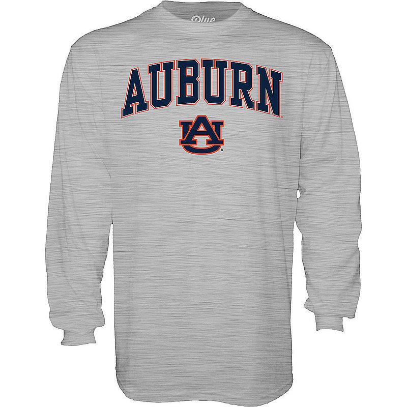 Auburn Tigers Long Sleeve TShirt Varsity Gray Arch Over BCR2M
